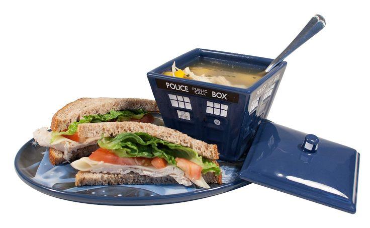 #DoctorWho Tardis Soup And Sandwich Set! Only 17 left in stock!