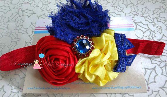 Trio Snow White headband, Princess Baby Girl Headband, newborn headband,  Princess headband. Baby Photo Props, Birthday headband, toddler @Dana Ulmer