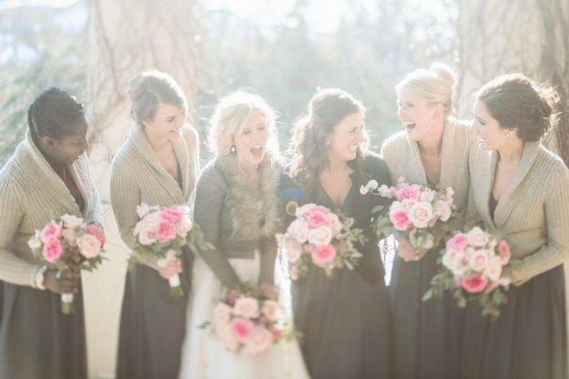 14 Perfect Winter Bridesmaid Looks: Cardigans