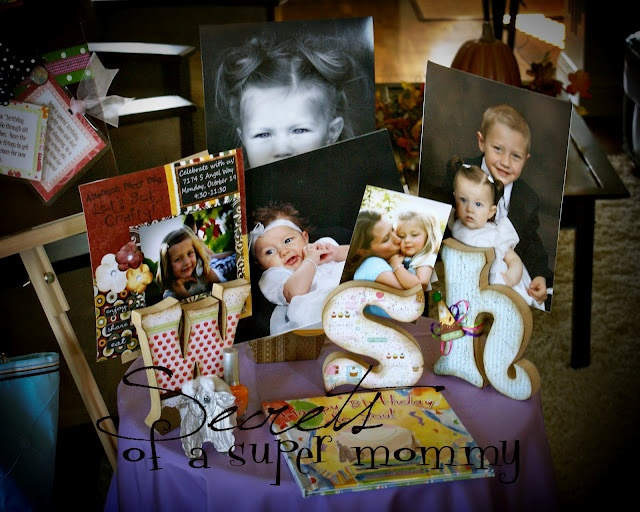 The Birthday WISH Letters and Photo Display Tradition...I actually ordered these from Etsy and they are gorgeous. The kids love having their photos displayed.