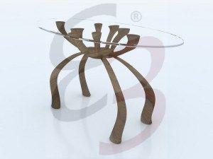 L'idea di un tavolo imponente ma originale nasce da una semplice composizione di fiori, più precisamente un bouquet di calle. Si è cercato di progettare un tavolo elegante e molto importante nelle sue dimensioni proprio per non abbandonare la classe e la delicatezza dello stesso fiore ripreso. Bouquet de Calla sfoggia un basamento con quattro gambe mosse che mano a mano  si elevano verso l'alto unendosi.  Leggi di più su https://elisadesignblog.wordpress.com/