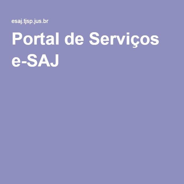 Portal de Serviços e-SAJ