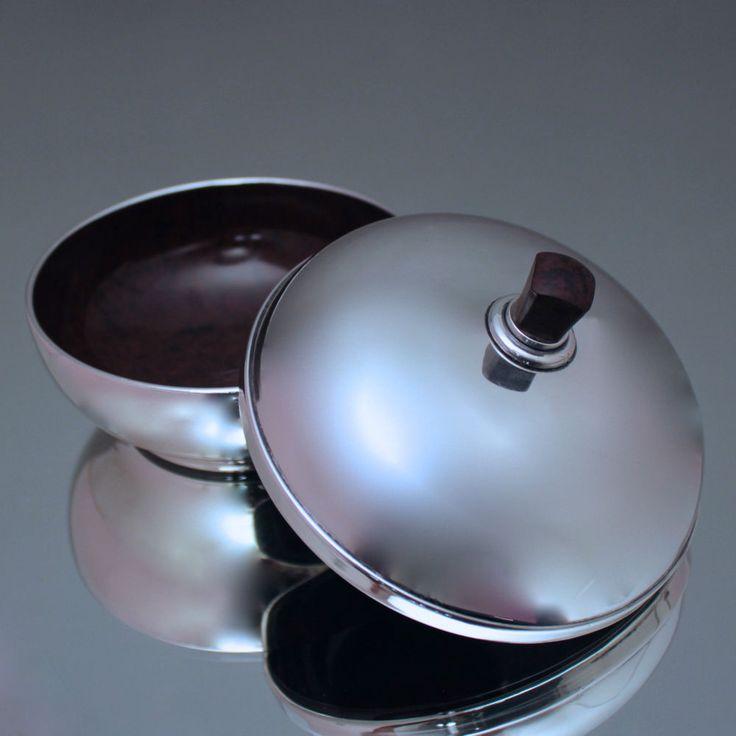 art dco aus birmingham dose aus silber und wurzel holz deckeldose sterling box