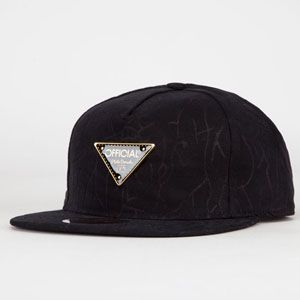 OFFICIAL Savona Mens Strapback Hat #5panel #official #hat #strapback #black #campcap #triangle