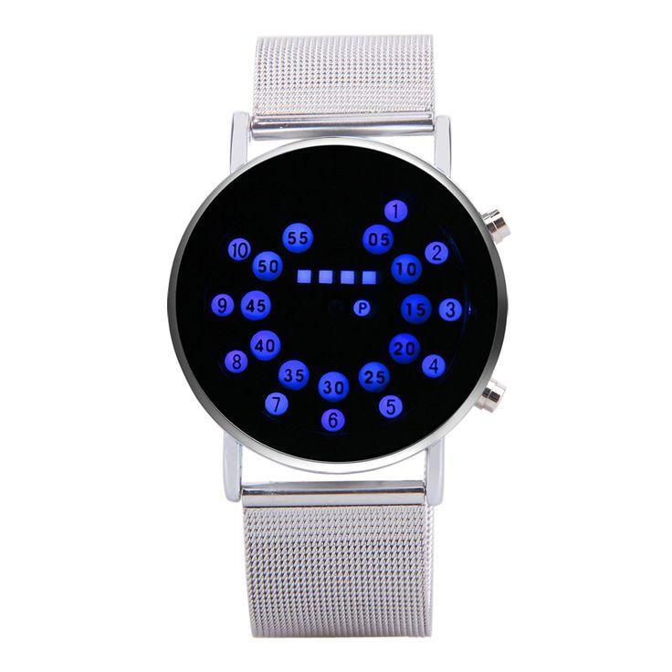 >> Click to Buy << Fashion Binary Clock Men LED Watch Men Digital Watches reloj binario relogio digital masculino erkek saat #Affiliate