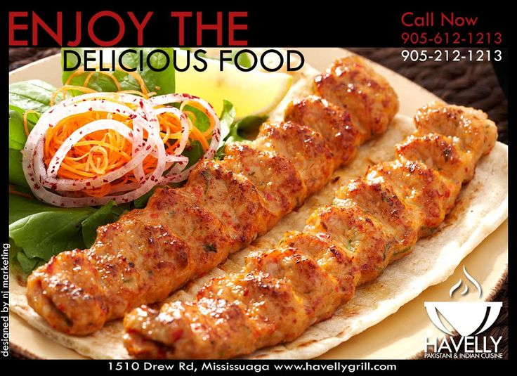 Havelly Grill Presents Special Mouth Watering Spicy BBQ Kababs , Now Make Your Self Rid Of Vapid Food Visit Us & Enjoy Desi Foods With Your Friends & Family Under Best Environment In Town . So , What Are You Waiting For Visit Us & Add Some Spice In Your Life    #Spice #Thrill #Desi #Food #BarBQ #Kababs #Environment #Friends #Family  For Queries Call: 905 212 1213  &  905 612 1213 Visit: http://www.havellygrill.com
