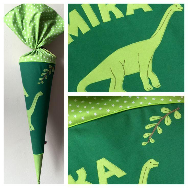 Schultüte aus Stoff mit Dinosaurier, Brachiosaurus, Langhals