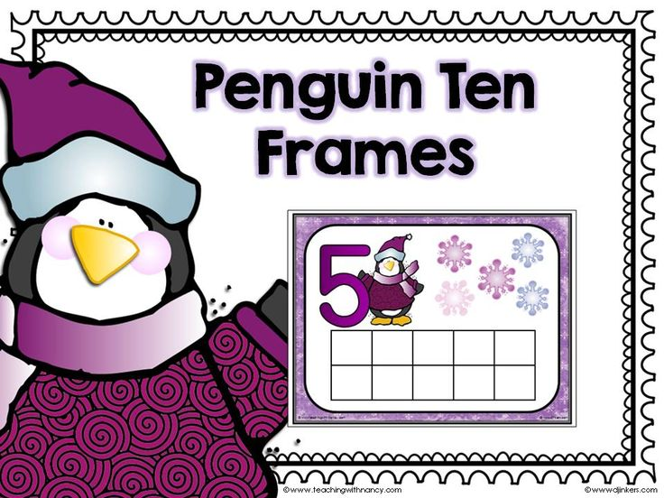 FREE Penguin Ten Frames 1-10 - Teaching with Nancy | Teaching with Nancy