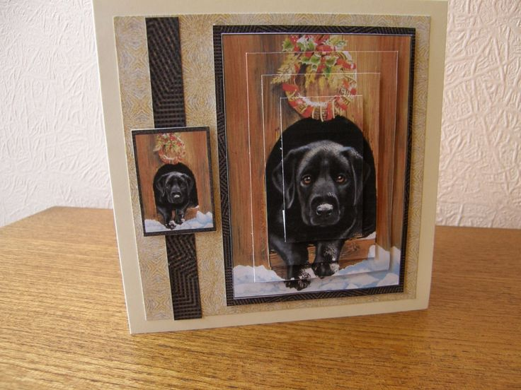 BLACK LABRADOR POLLYANNA PICKERING HANDMADE CARD, GREETING ADDED FREE OF CHARGE | eBay
