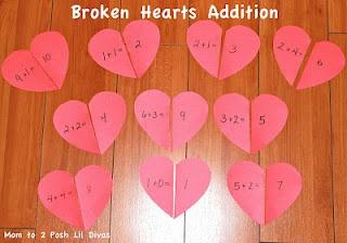 Valentine's Day Fun: Heart Math for Preschool & Kindergarten from Mom to 2 Posh Lil Divas