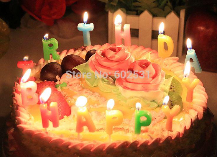 Письмо с днем рождения свечи комплект смешанный цветной цифровой свечи творческий романтической эпохи детской торт ко дню рождения свечи