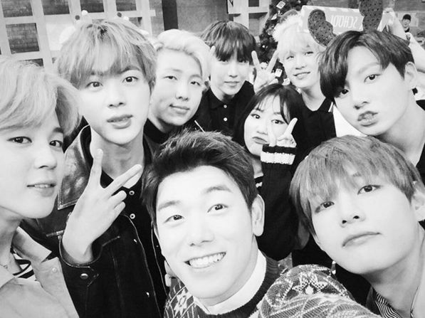 Eric Nam Shares a Photo With BTS