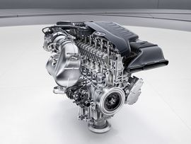 Mercedes prepares a slew of efficient new gas engines for 2017     - Roadshow  Enlarge Image  Theres nothing quite as fascinating as a good engine cutaway. Photo by                                            Mercedes-Benz                                          Mercedes has a whole new family of gas engines coming next year and theyre promising big things.  Gas engines arent going anywhere for decades to come which is why automakers are still hard at work maximizing efficiency instead of…