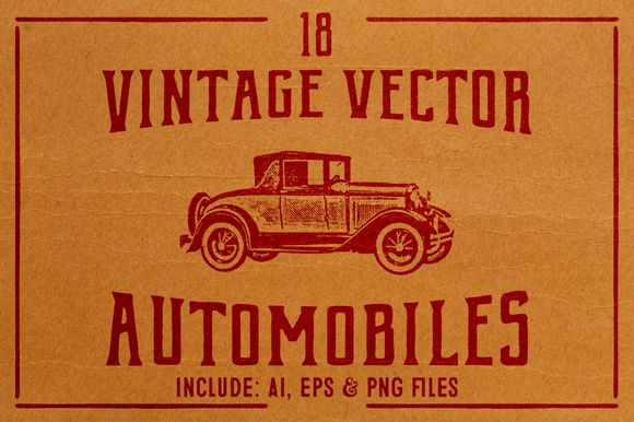 Vintage Vector Cars by BART.Co Design on @creativemarket