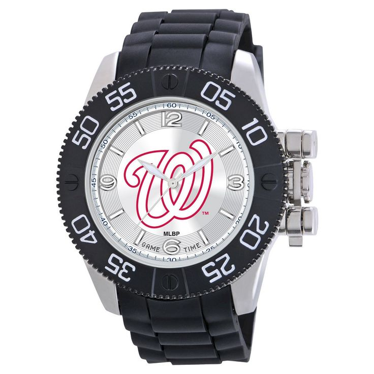 Men's MLB Game Time Washington Nationals Beast Series Watch - Black