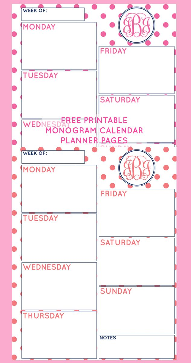 Calendar Planner Pages : Best daily weekly organizer insert printables images on