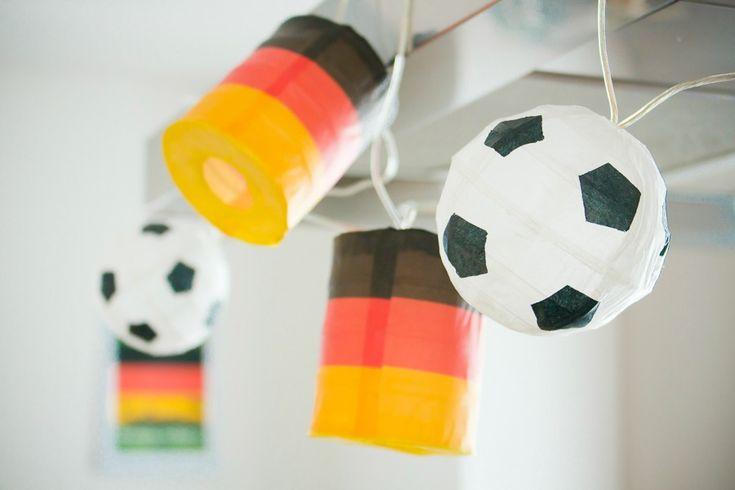 DIY Fußball-Lampionkette...