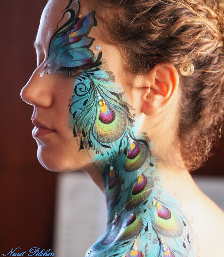 Magnificent Peacock Art ~ Close Up