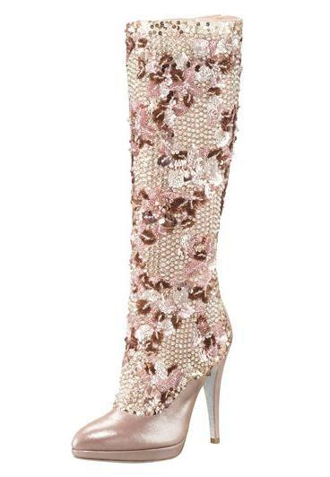 www.renecaovilla.com, Rene Caovilla Crystal-Beaded Knee Boot, bride, bridal, wedding shoes, bridal shoes, wedding