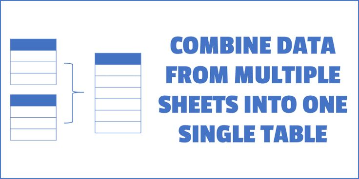 Combine Data From Multiple Worksheets Into A Single Worksheet In Excel Trong 2020