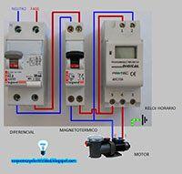 Esquemas eléctricos: Maniobra con reloj horario