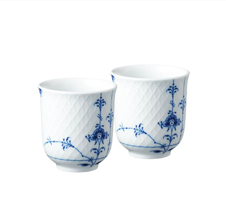 Blue Palmette Mug, 2-pack