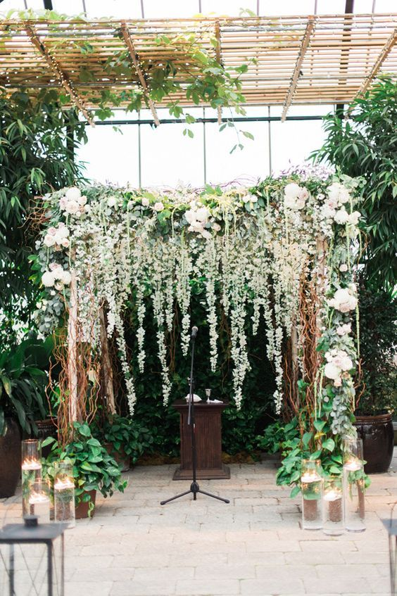 floral wedding ceremony arch / http://www.himisspuff.com/wedding-backdrop-ideas/2/