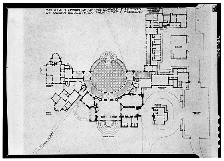 images about floor plans on Pinterest   Mansion Floor Plans    Mar a Lago  home of Marjory Merriweather Post  first floor plan