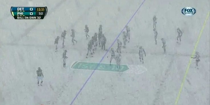 The Snow At The Eagles-Lions Game Was Insane 12/8/2013