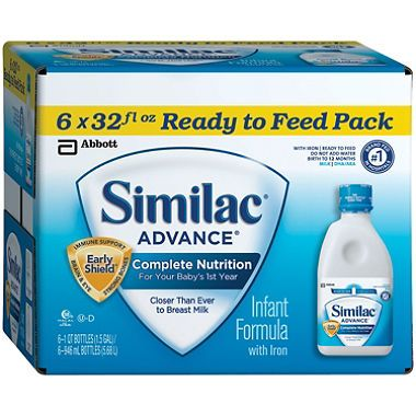 Baby formulas are common consisting of different types of sugars and proteins. Similac Progress, Enfamil Lipil, and Nestle Good Start Supreme are baby formulas which can be typical metal prepared; made up of lactose and protein which derive from cow's milk. If they are not being fed solely on breast milk, this is the right milk to give infants.  http://similacadvance.net/