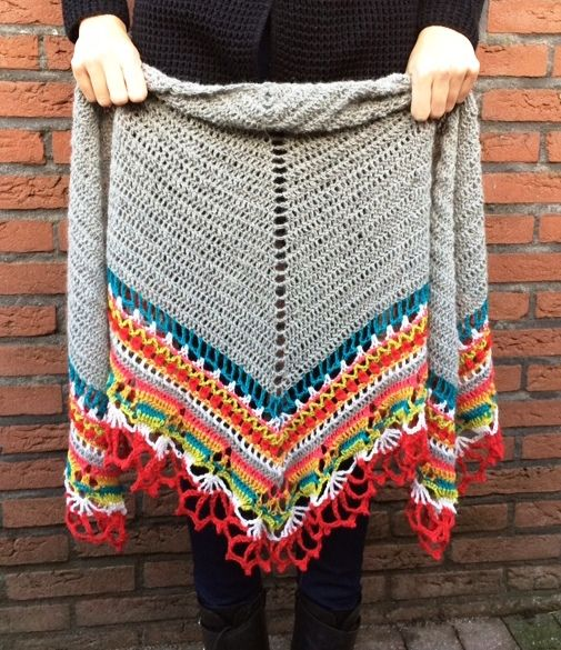 """Crochet-A-Long 'CAL' – Omslagdoek / Shawl"" English instructions included scroll down on page"