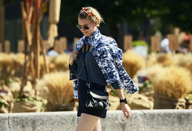 Street-Style Photographer Tommy Ton Shoots the Menswear SceneFashion, Polka Dots, Jeans Jackets, Street Style, Mixed Prints, Navy, Tommy Ton, Blue Prints, Summer Time