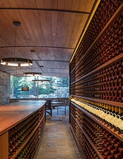 Project: Teton, Village, Wyoming USA. Wine Cellar. Vitrocsa product: Invisible track www.vitrocsa.co.uk