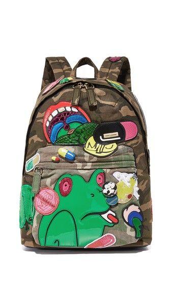 Marc Jacobs Камуфляжный рюкзак Julie Verhoeven в байкерском стиле