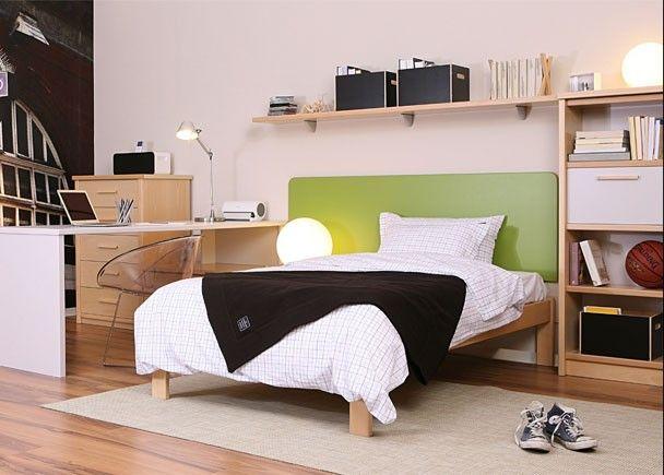Juvenil con cama tipo aro de 105x90 dormitorios for Habitaciones juveniles cama 105