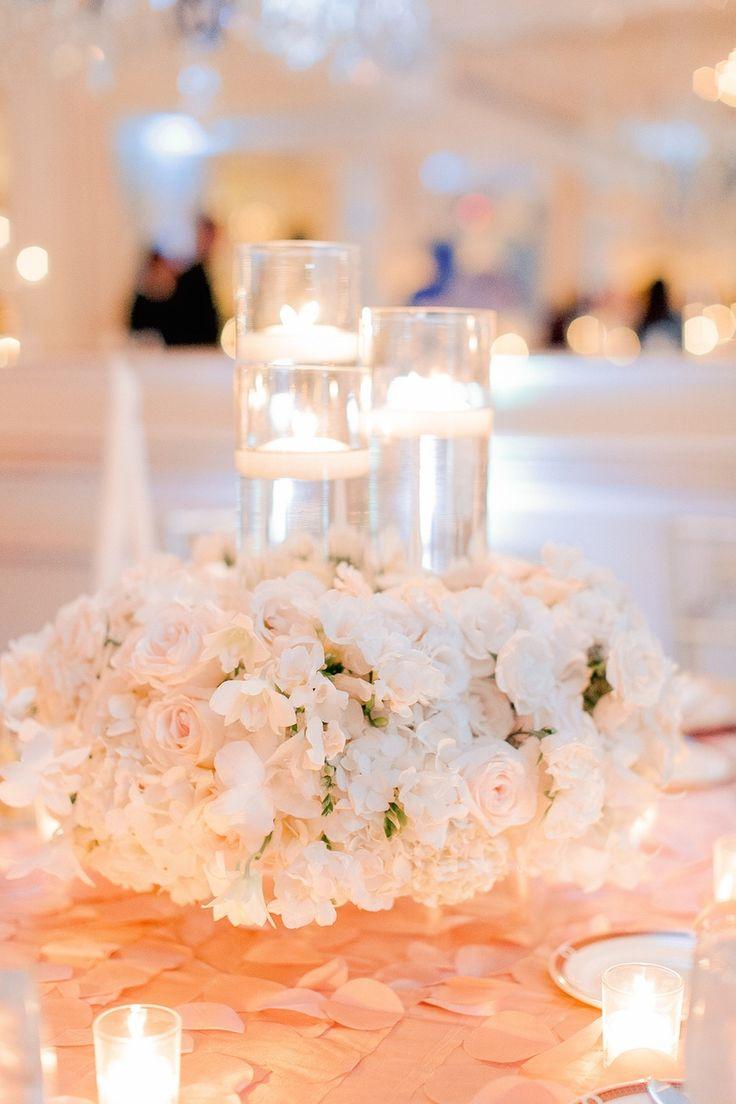 Modern Romantic Centerpiece : Romantic floral candle centerpiece photography arte
