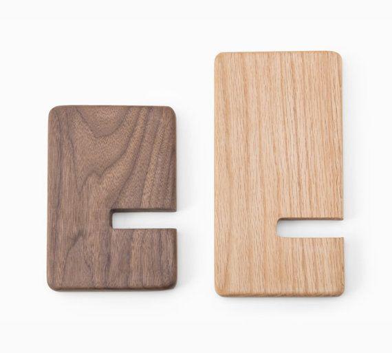 Wooden Bookends that slide onto bookshelf