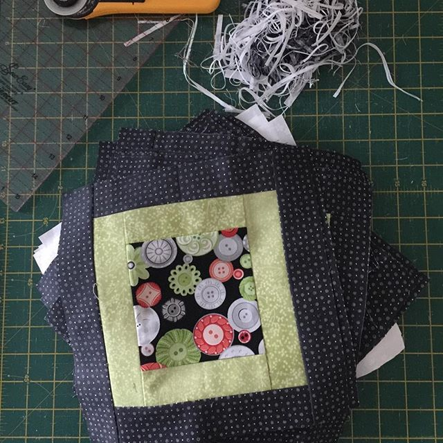 Squaring the blocks is done  #quilting #quilt #quilters #robertkaufman #contrast #lapquilt #blackandwhite #quilts #patchworkquilt #patchwork #scrappyquilts #mydubai #craft #craftdubai #quilterofinstagram #pattern #patchworkparty #patchworkquilt #miniquilt #patterns #concentricsquarequilt  #fabric  #quiltshop #patternlove #charmpackquilts #jellyroll #jellyroll #sewin #sewingpattern #crazypattern #squares  #stitching