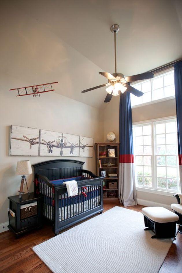 Cool Decor Ideas For A Boys Aviation And Airplane Nursery