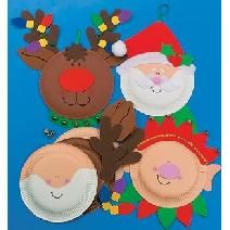 christmas craft ideasKids Christmas, Santa Crafts, Crafts Ideas, Christmas Crafts, Kids Crafts, Paper Plate Crafts, Paper Plates Crafts, Christmas Paper, Crafts Kits