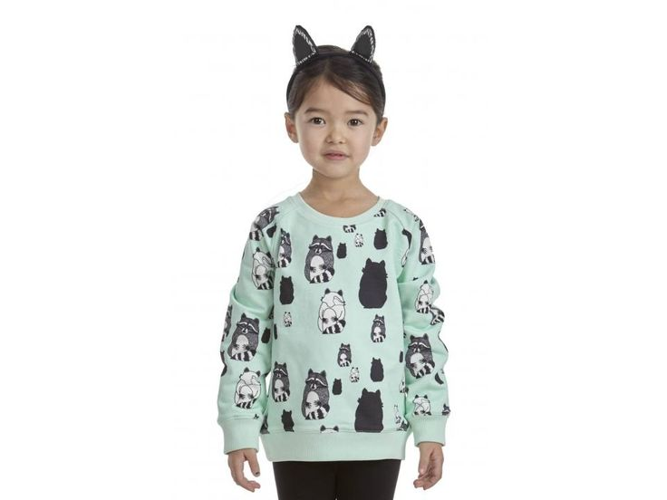 Filemon Kid Reversible Sweatshirt Raccoons