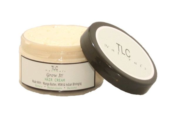 tlc naturals Grow It hair growth cream.   many customers report seeing visible hair growth and thickeness in no less than 10-14 days  Great for slow hair growth, premature balding, bald patches, thinning hair, thin edges etc     #longhair #naturalhair #thickhair #hairgrowthproducts