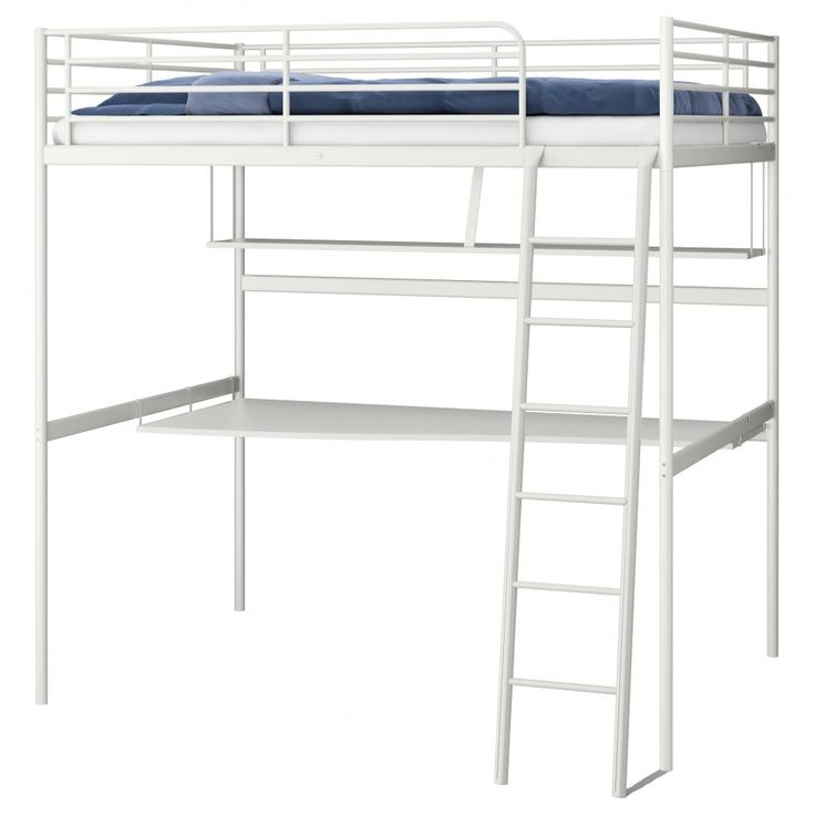 Bedding, Bunk Beds With Desk Ikea Bunk Bed With Double Side Rails Loft Bed  Ideas