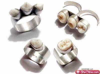 human teeth rings!!