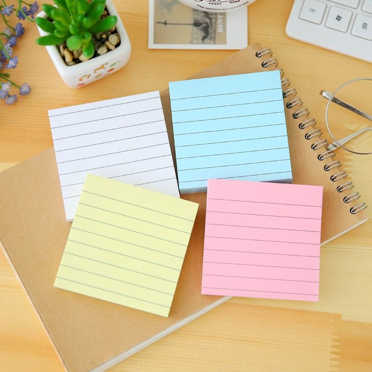 1.32$  Watch now - 80PagesSet Soild Color Memo Pad Diy Post It Kawaii Stationery School Stationery Set Office Supplies Notepad Cute Sticky Notes   #aliexpress