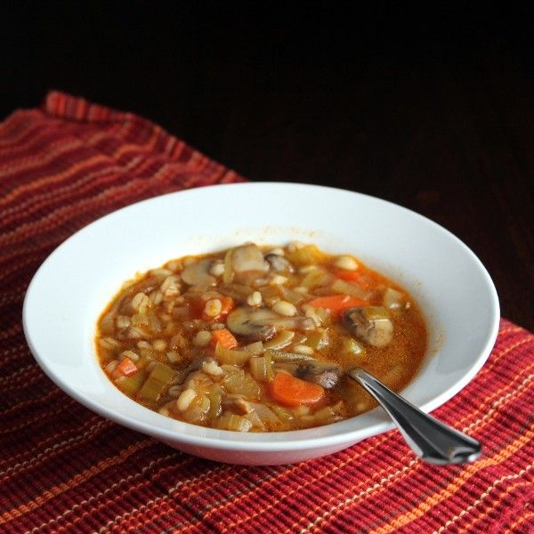 mushroom barley soup - to try | Cooking | Pinterest