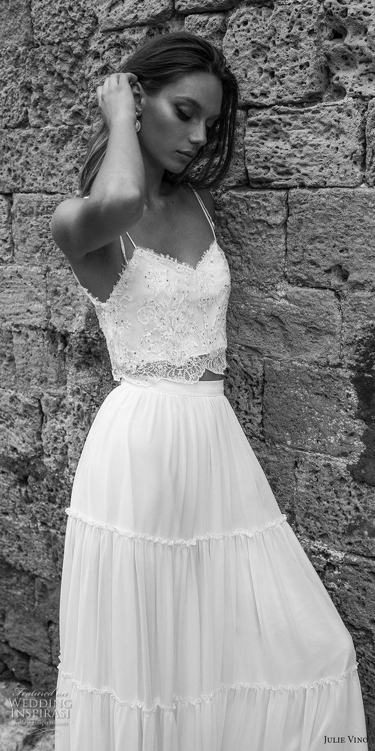 Best Piece Wedding Dress Ideas On Pinterest Two Piece