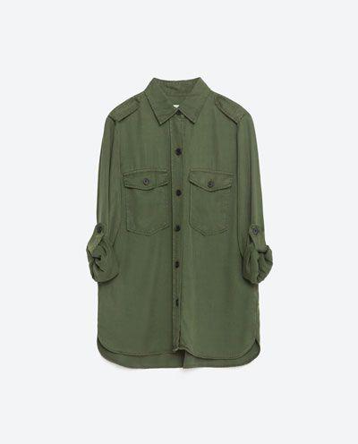 CAMISA ESTILO MILITAR-Camisas-CAMISAS-MUJER | ZARA España