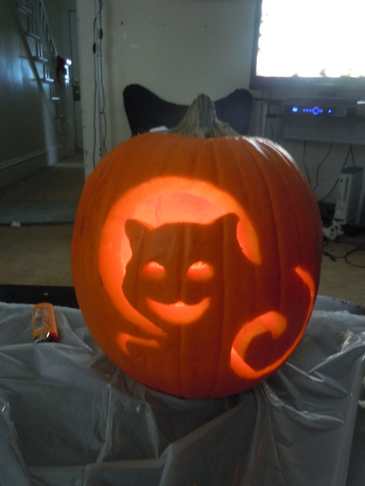 kitty pumpkin carving 21 best halloween images