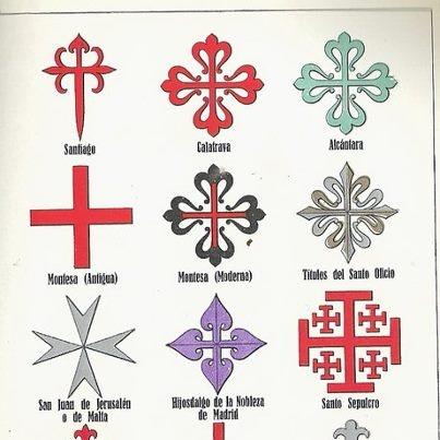 Cruces de las Ordenes de Caballería.